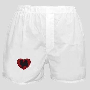 Long Haired Chihuahua Heart Boxer Shorts