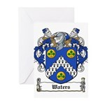 Waters Family Crest Greeting Cards (Pk of 10)