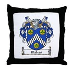 Waters Family Crest Throw Pillow
