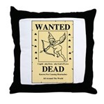 Wanted Cupid Throw Pillow