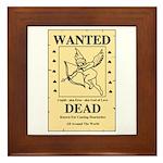 Wanted Cupid Framed Tile