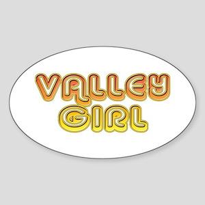 Valley Girl Oval Sticker
