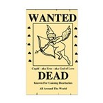 Wanted Cupid Rectangle Sticker