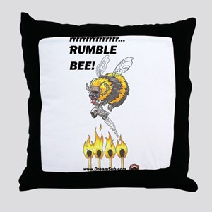 Rumble Bee Throw Pillow