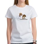 Jack Russell Terrier and The Turkey on Women's T-S