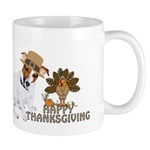 Jack Russell Terrier and The Turkey on Mug