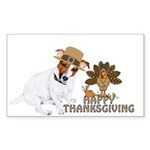 Jack Russell Terrier and The Turkey on Sticker (Re