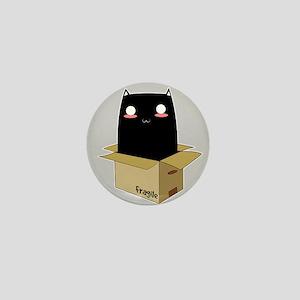 Black Cat in a Box Mini Button