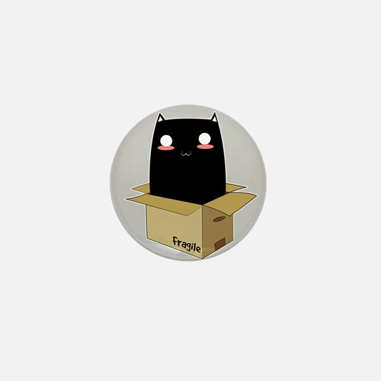 Black Cat in a Box Mini Button