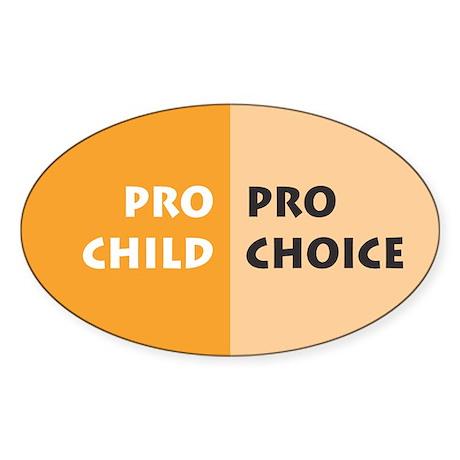 Pro Choice Oval Sticker