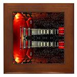 Double Neck Guitar Framed Tile