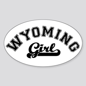Wyoming Girl Oval Sticker