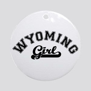 Wyoming Girl Ornament (Round)