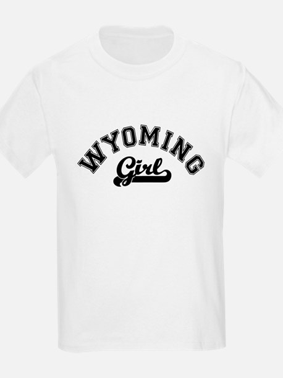 Wyoming Girl Kids T-Shirt