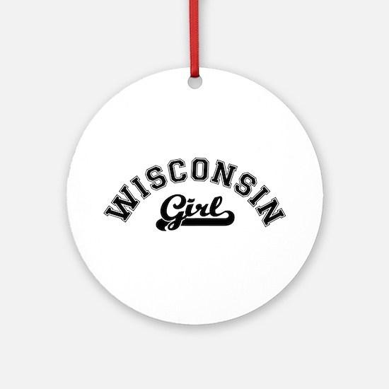Wisconsin Girl Ornament (Round)