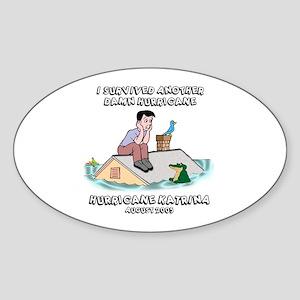 Hurricane Katrina Roof Oval Sticker
