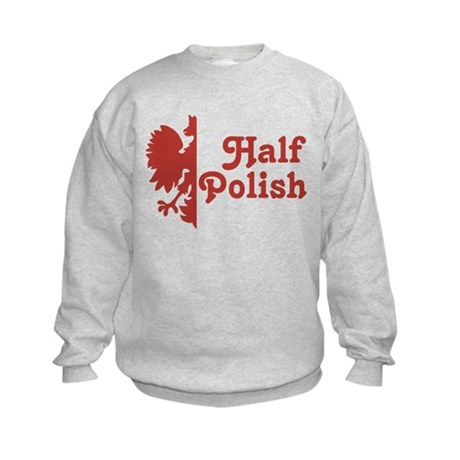 Half Polish Kids Sweatshirt