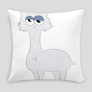 Grumpy Persian Cat Llama Everyday Pillow