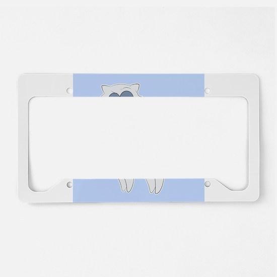Grumpy Persian Cat Llama License Plate Holder