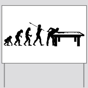 Billiard Player Yard Sign