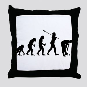 Croquet Player Throw Pillow