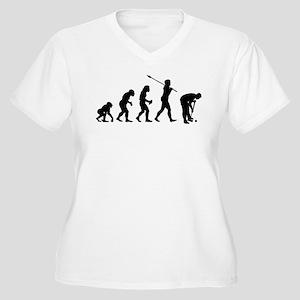 Croquet Player Women's Plus Size V-Neck T-Shirt