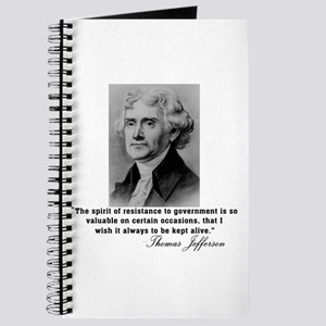 Jefferson Spirit of Resistance Journal