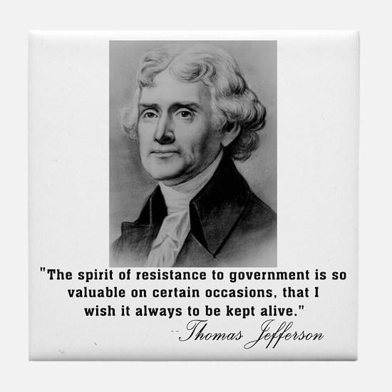 Jefferson Spirit of Resistance Tile Coaster