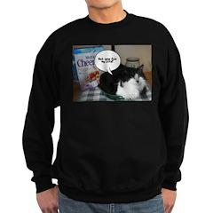 Black & White Cat Humor Sweatshirt (dark)