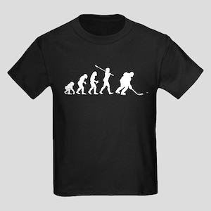 Ice Hockey Player Kids Dark T-Shirt