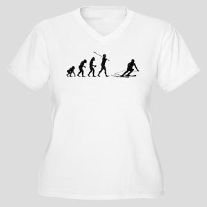 Skier Women's Plus Size V-Neck T-Shirt