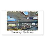 Freeway Madness Rectangle Sticker