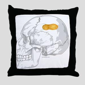 PEANUT BRAIN Throw Pillow