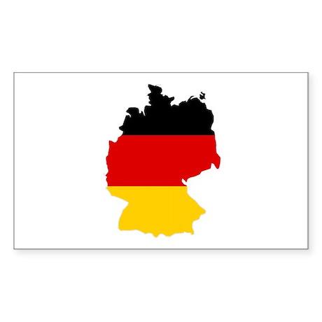 German Flag (shape) Sticker (Rectangle)
