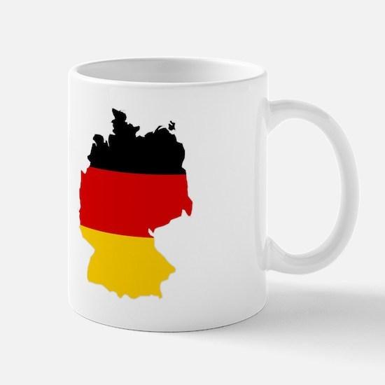 German Flag (shape) Mug