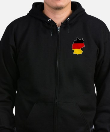 German Flag (shape) Zip Hoodie (dark)