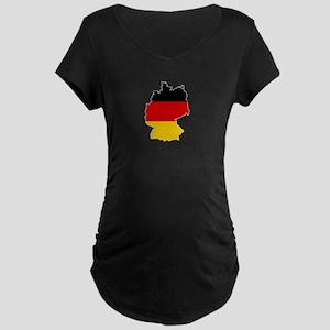 German Flag (shape) Maternity Dark T-Shirt