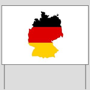 German Flag (shape) Yard Sign
