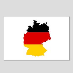 German Flag (shape) Postcards (Package of 8)