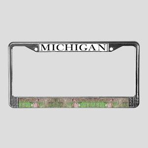 MI License Plate Frame
