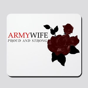 """Army Wife Rose"" Mousepad"