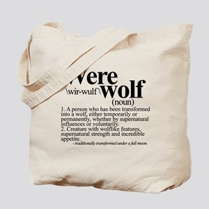 Definition of a werewolf Team Tote Bag