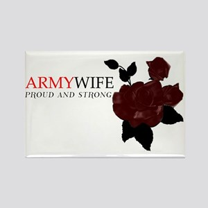 """Army Wife Rose"" Rectangle Magnet"