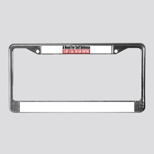 A Need for Self Defense License Plate Frame