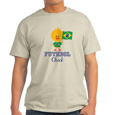 Brazil Soccer Futebol Chick Light T-Shirt
