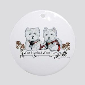 West Highland White Terriers Ornament (Round)