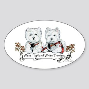 West Highland White Terriers Oval Sticker