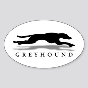 Greyhound Oval Sticker