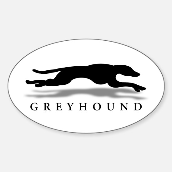 Greyhound Oval Decal