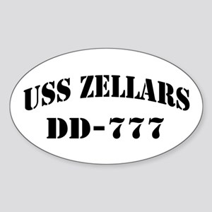 USS ZELLARS Sticker (Oval)